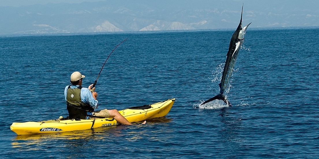 A Fishing Kayak with sit on