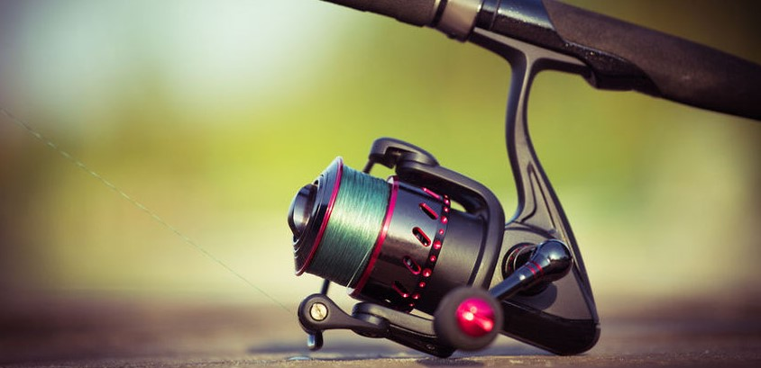 A Red Spinning Reel