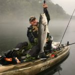 Bass fishing with the kayak
