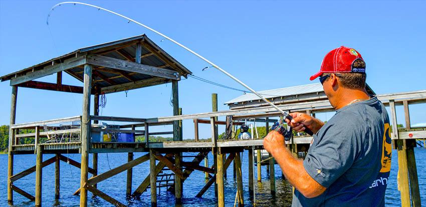 Fishing from Shooting Docks