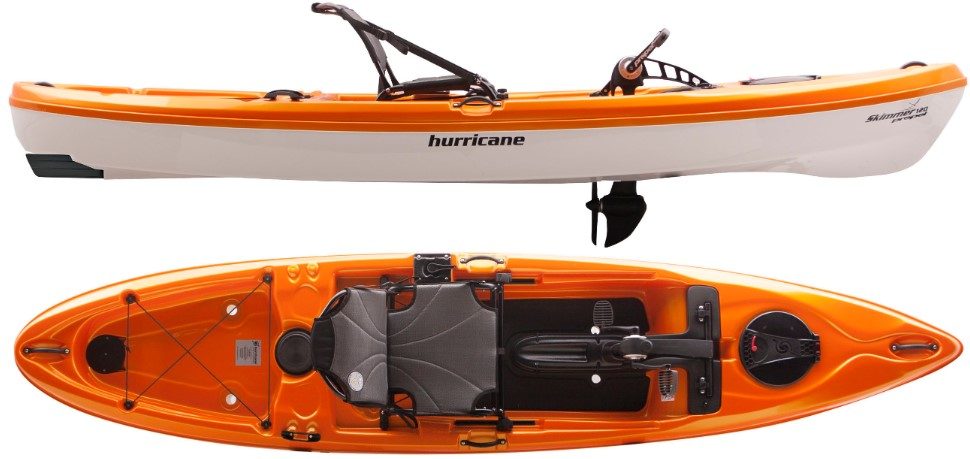 Orange Lightweight Fishing Kayak