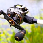 baitcast reel side view