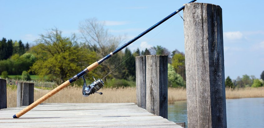 fishing rod with an inshore saltwater spinning reel