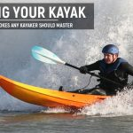 Paddling the kayak