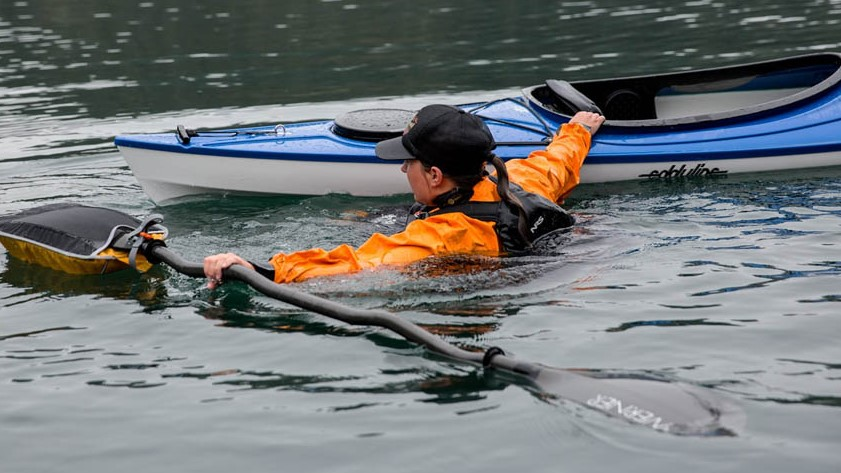 The Wet Exit With The Kayak