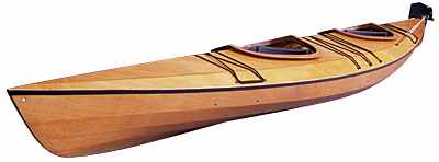 The wooden kayaks